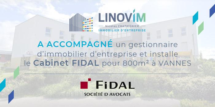 Accompagnement à Vannes de la société FIDAL par LINOVIM
