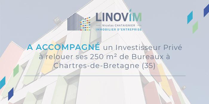 retour sur l'accompagnement d'un investisseur privé pour la location de bureaux à Charte de Bretagne