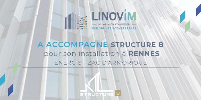 Accompagnement du bureau d'étude STRUCTURE B par LINOVIM installation energis zac armorique à rennes