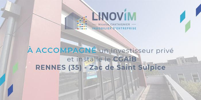 Accompagnement d'un investisseur privé par LINOVIM au profit du CGAiB