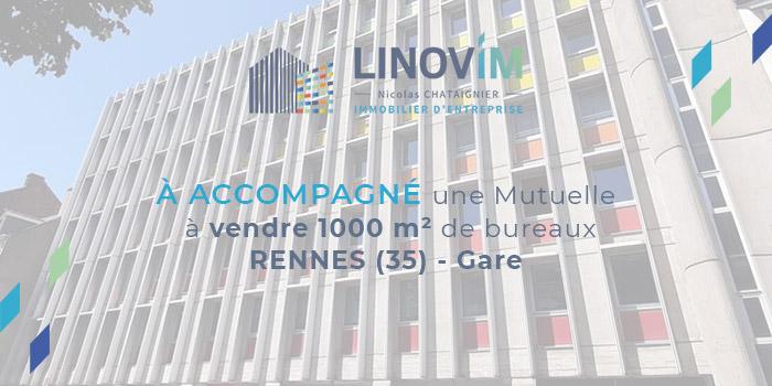 Vente 1000m2 de bureaux à rennes secteur gare par Linovim