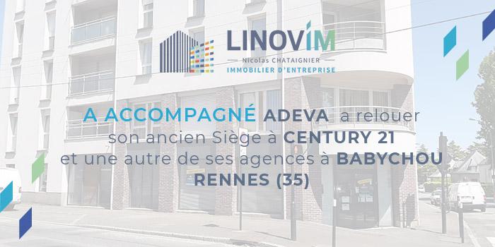 Accompagnement location immobilier entreprise à rennes pour le groupe Adeva par Linovim