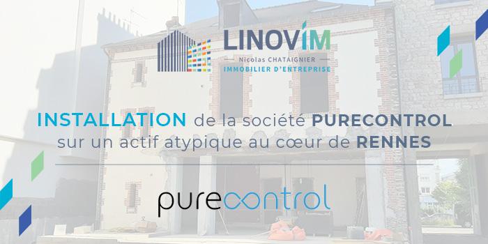 Installation de l'entreprise Purecontrol à rennes avec l'aide de Linovim